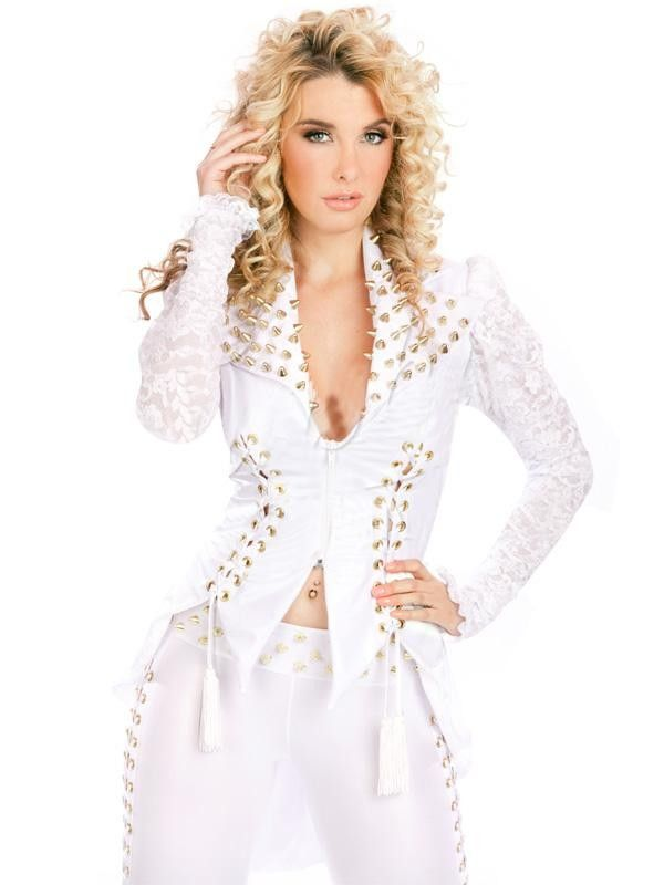 Cheap catsuit costume, Buy Quality catsuit lycra directly from China sexy pvc catsuit Suppliers:  This coat is absolute fabulous, with the over sized studded collar and tails. Stretch lace sleeves with a ruff