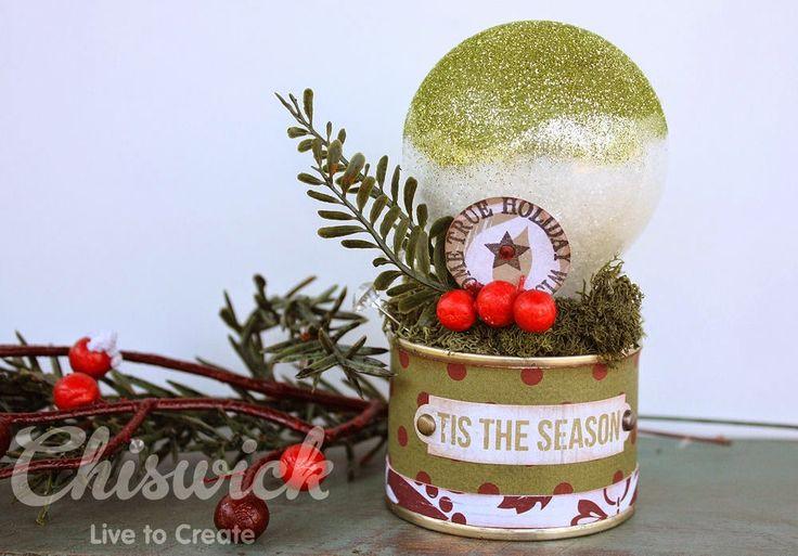 altered light bulb Christmas ornament