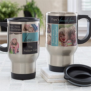 Personalized Photo Collage Travel Mugs - Favorite Faces - 12743 $17.95  Mother's day?