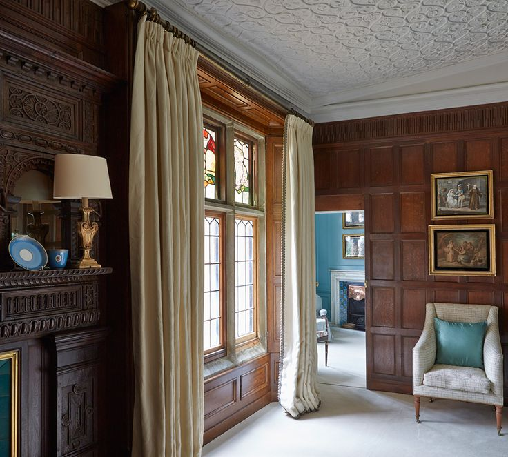 Into A Robins Egg Blue Bedroom At Madresfield Court Grade I Country House In The Village Of Near Malvern Worcestershire England