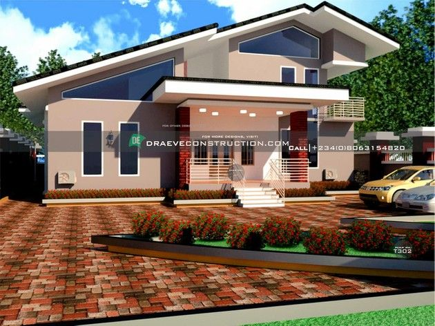 Bungalow With Penthouse Building Plan Designs In Nigeria Draeve Building House Plans Designs Modern Architecture Building Duplex Design