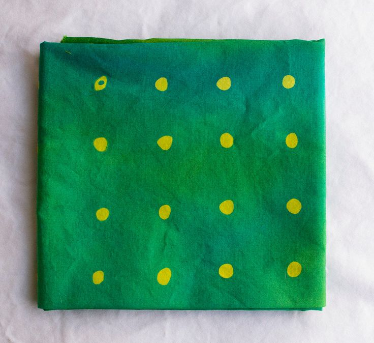 Wasabi Peas Hand Dyed and Patterned Cotton Fabric/ Chartreuse and Grass by stitchindye on Etsy