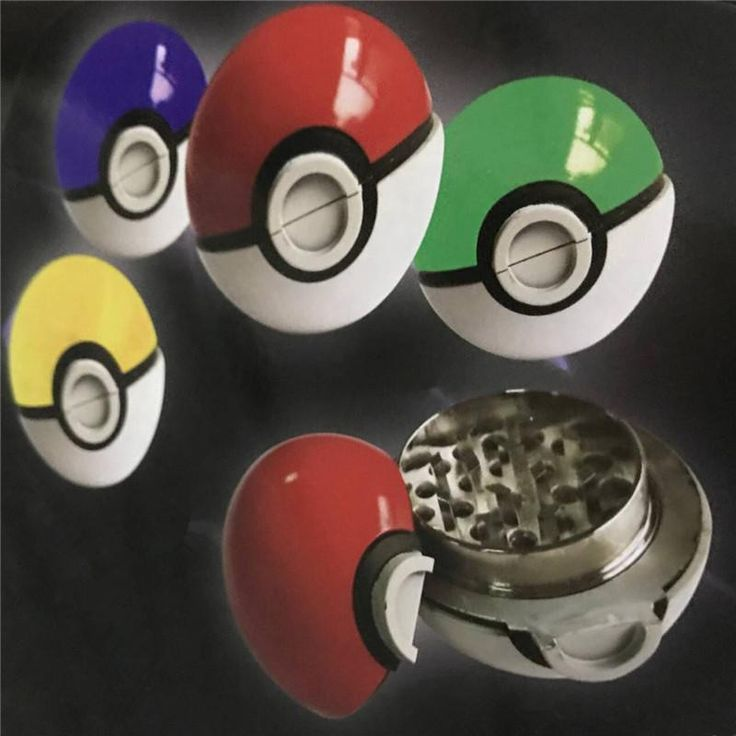 [Visit to Buy] New 2016 Brand Aluminum Herb Pokemon Pokeball Tobacco Grinder Cigarette Lighter Supplies Accessories #Advertisement