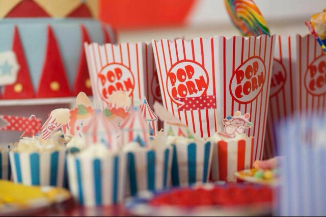 Circus party Popcorn!