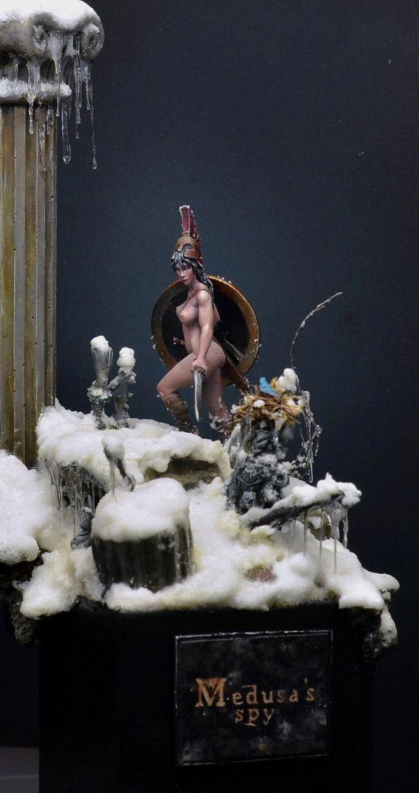 """Medusa's spy painted by Roman Lappat, """"jarhead"""""""