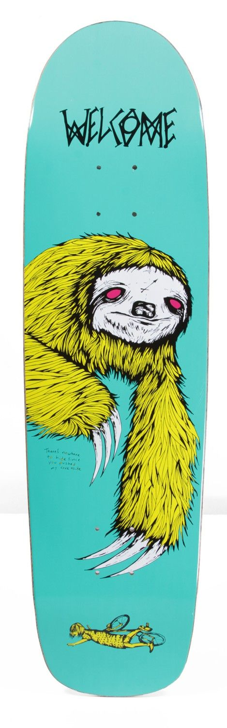 Welcome Sloth 8.5 Waxing Moon V2 Shape Skateboard Deck - Skate Shop > Decks > Skateboard Decks