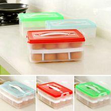 Dois camada de plástico de caixa de suporte do ovo de galinha de ovos portátil de transporte de cesta de cozinha(China (Mainland))