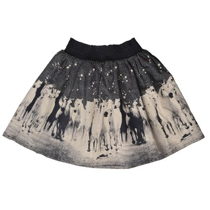 Paper Wings Horses shirred skirt