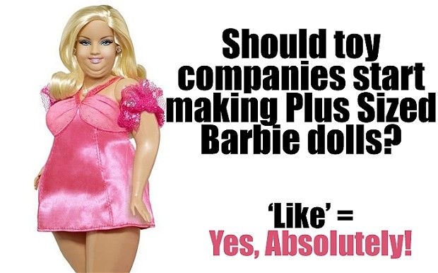 Fat Barbies? It's not OK to be obese. Why can't we accept this ...
