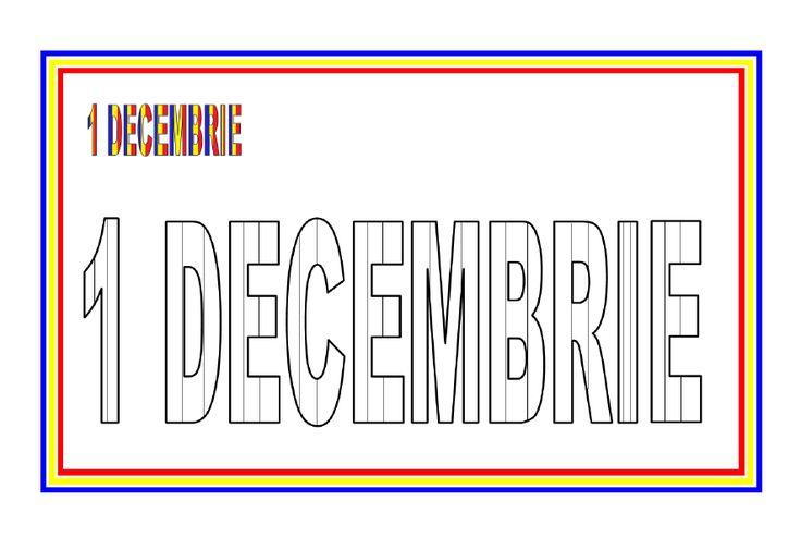 Fisa de colorat - 1 Decembrie