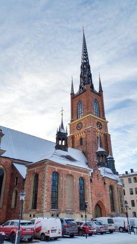 Riddarholmen Church (Riddarholmskyrkan) in Stockholm from north.