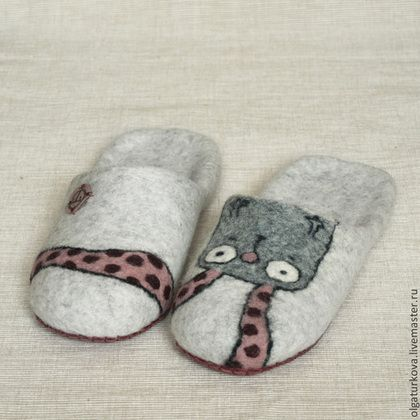 """Обувь ручной работы. Ярмарка Мастеров - ручная работа Тапочки """"Зай"""". Handmade."""