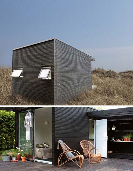log less modern cabin - Prefab Modern Cabin