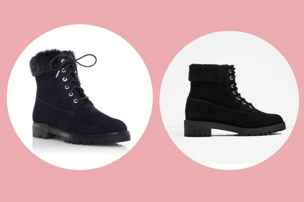 Aquazurra The Heilbrunner Flat (€895) vs. Zara track sole leather ankle boots (€49,95)