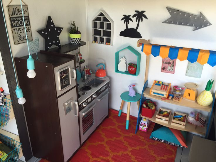 Kids cubby house interior. I want to be a kid again!