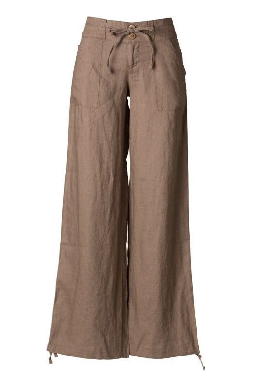 Linen Pants in Mocha www.shopedcclothing.com