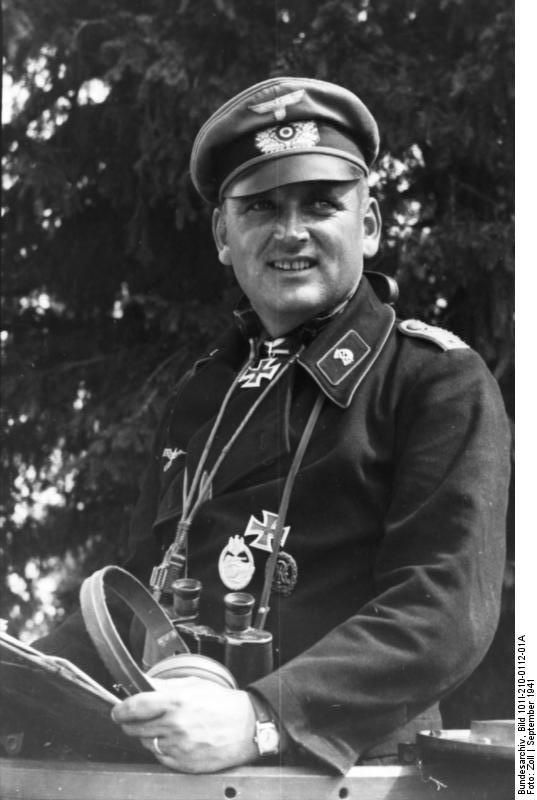 Hans Stern (1907-1972) was an Obersturmbannführer in the Waffen-SS during World War II. Stern was awarded the Knight's Cross while still a member of the Army, and he transferred to the Waffen-SS in 1943. He was also awarded the Knight's Cross of the Iron Cross to recognize extreme battlefield bravery or successful military leadership. Here he is seen as a Panzeroffizier during the 900-day siege of Leningrad (September 1941).