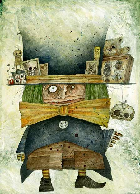 Стефано Бессони иллюстрации к Алисе в стране чудес