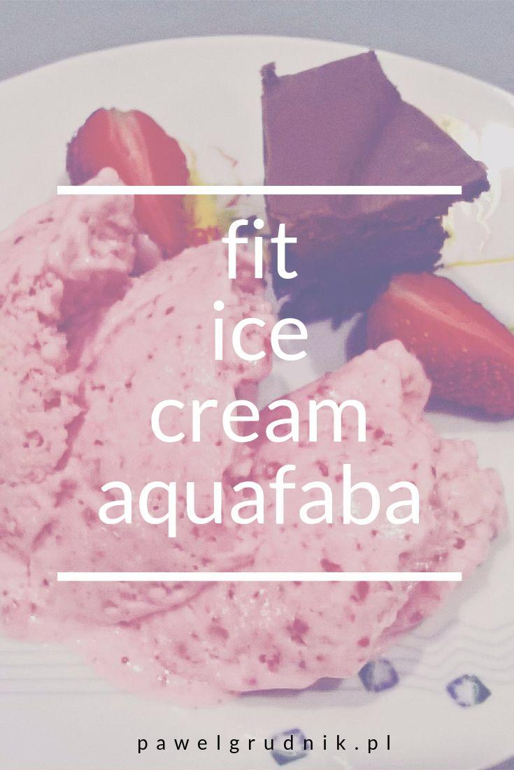 #fit #aquafaba #icecream #lodytruskawkowe