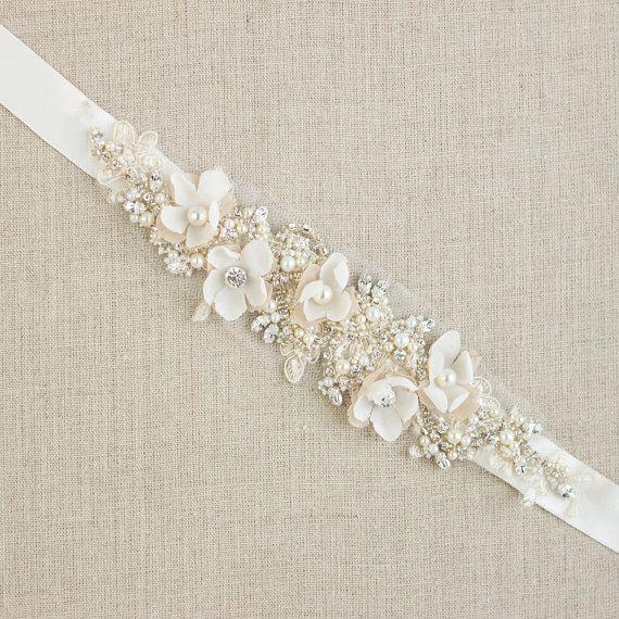 wedding dress sashes