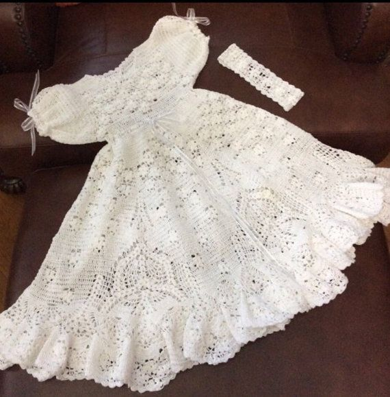 Crochet Patterns Baby Christening Dresses : 1000+ images about Christening & Baptism on Pinterest ...