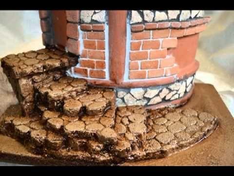 ▶ Dakpannen decoreren met miniatuur bouwstenen. - YouTube
