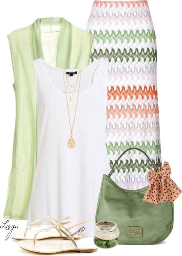 Coral + Green