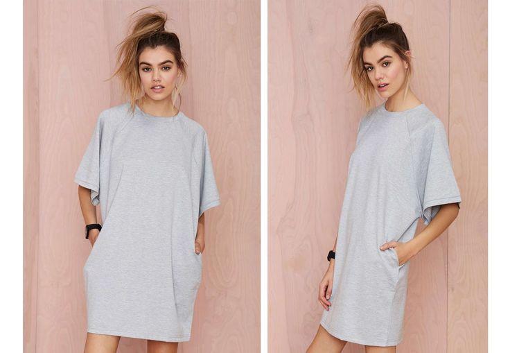 DIY T-Shirt Dress ( Easy Sewing)