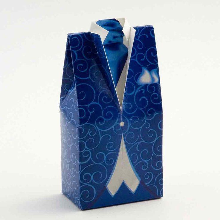 Blue Tuxedo Wedding Favour Boxes