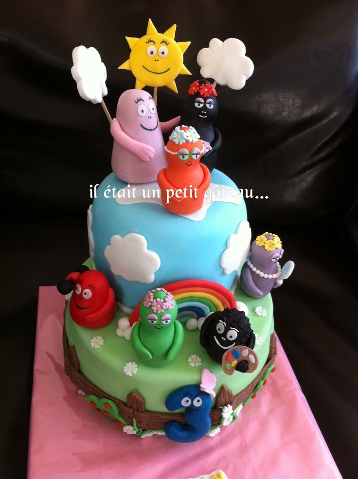 Gâteau barbapapa rainbaw cake