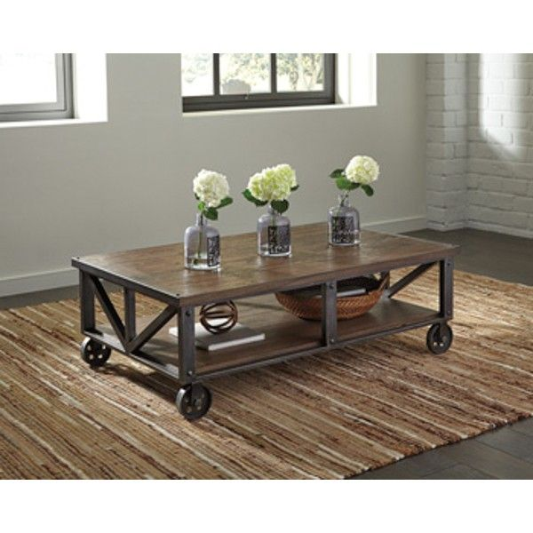 Zenfield Rectangular Cocktail Table - Medium Brown - (Set of 1) - T870-0 by Ashley Furniture Signature Design