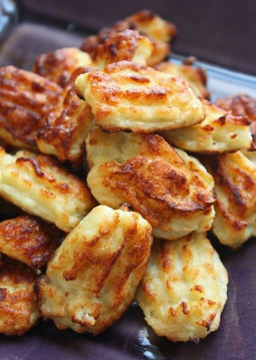 Cauliflower tatar tots boil, smash, form , bake 350 20 min or tell golden brown. Turn over at half way 10 min .