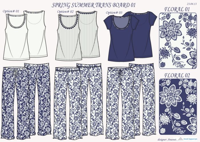Sleepwear collections by Anureet Randhawa at Coroflot.com