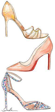 sapatos da chanel desenhos - Pesquisa Google