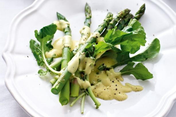 Serve creamy hollandaise sauce with tender asparagus spears for an impressive starter in minutes.