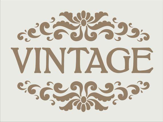 VINTAGE sign Stencils  Several Sizes Available por SuperiorStencils