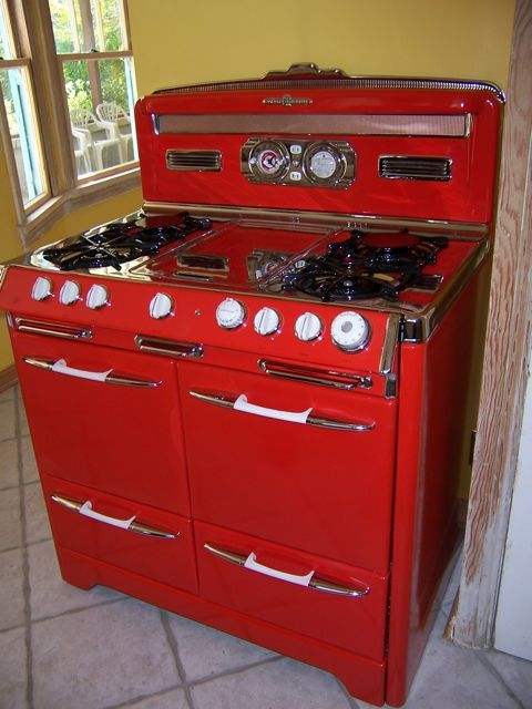 Restored Vintage Electric Stoves ~ Best images about antique appliances on pinterest