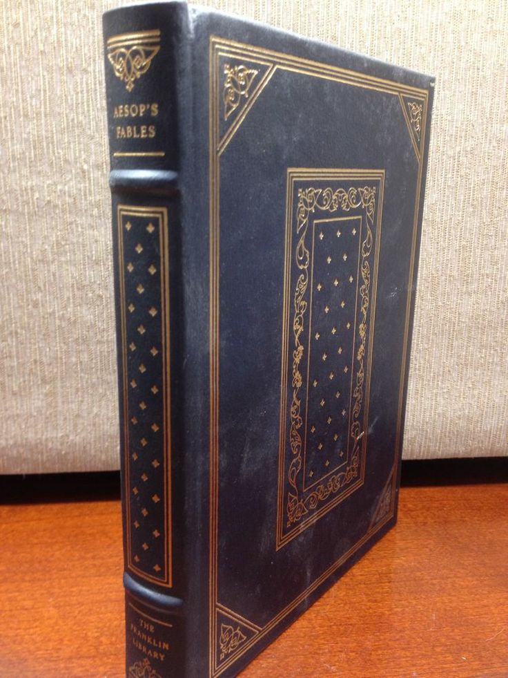 Aesop's Fables Franklin Library Full Leather 100 Greatest Books of All Time Gilt