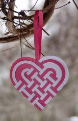 Woven hearts for st. Lucia day