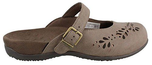Vionic with Orthaheel Technology Rest Midway Womens Mule Mary Jane Taupe Size 6 ** You can find out more details at the link of the image.