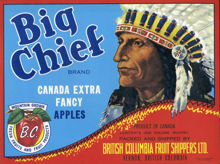 Big Chief Brand Canadian Apples Crate Label 695 Via Etsy