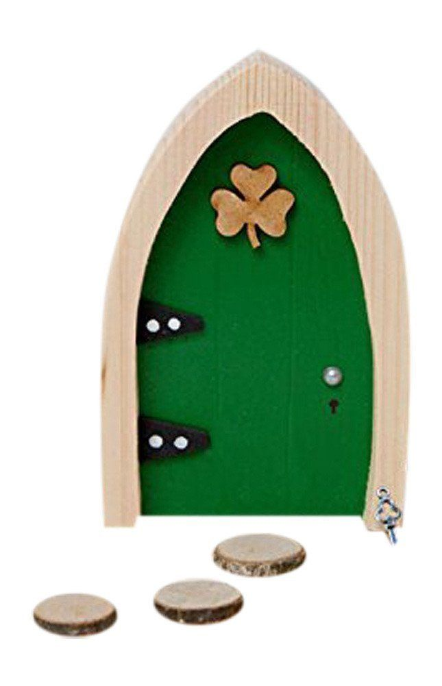 Magical irish fairy door green arched fairy door for Irish fairy door ideas