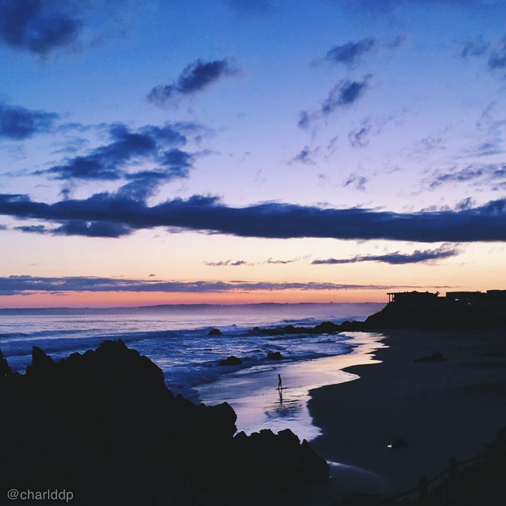 Keurbooms Strand sunset // Wave rider silhouette // South Africa. Photo by http://instagram.com/charlddp