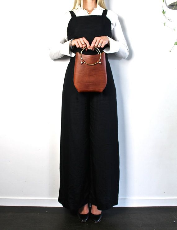 Leather Purse Bag the O-Series in Cognac Brown by EcoCollectiveAus