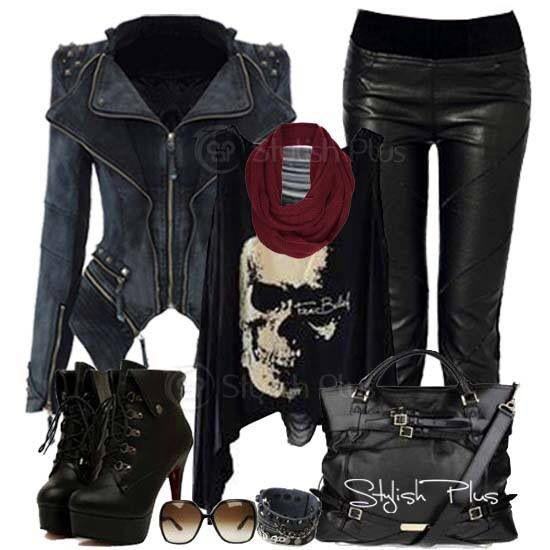 All Black Edgy Outfit Love It! | Edgy | Pinterest | Pants Leather Pants And Skull Face