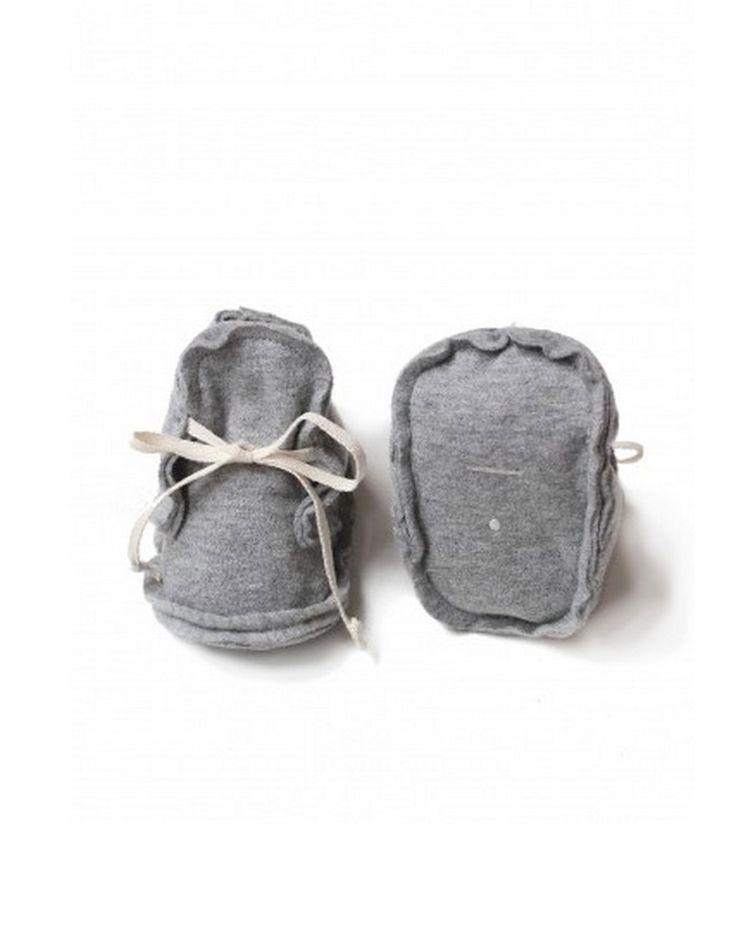 Gray Label Raw Edged Baby Booties