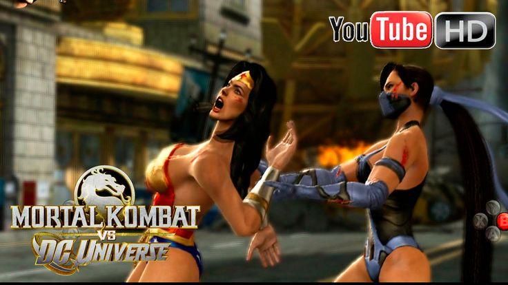 Mortal Kombat VS DC Universe [Xbox 360] - ✪ Wonder Woman Vs Kitana ✪ | F...