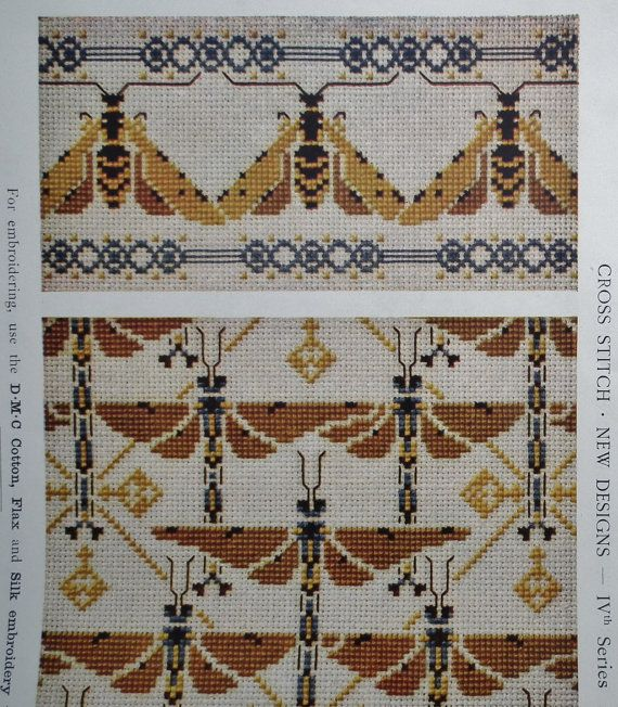 Vintage Embroidery Book Cross Stitch New by sewmuchfrippery