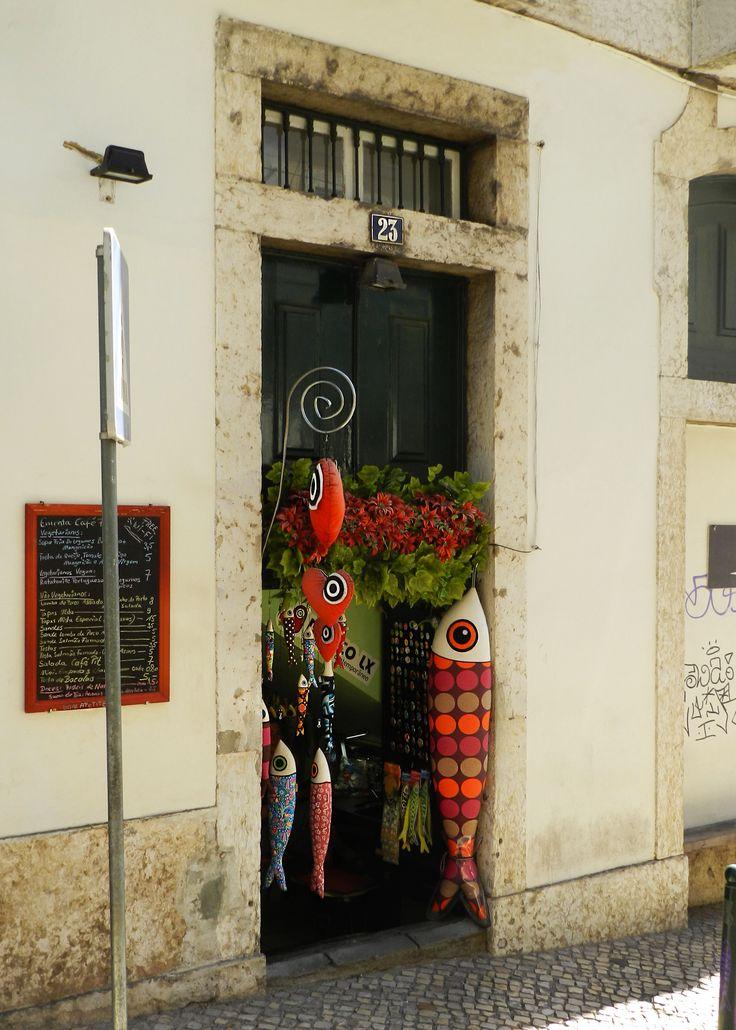 Lisbon, Portugal, handmade, fish, colors