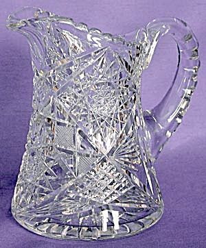 Antique Cut Glass. My Mam left this pitcher to me after she died,,,,,Love cut glass :) Thanks, Mama xx